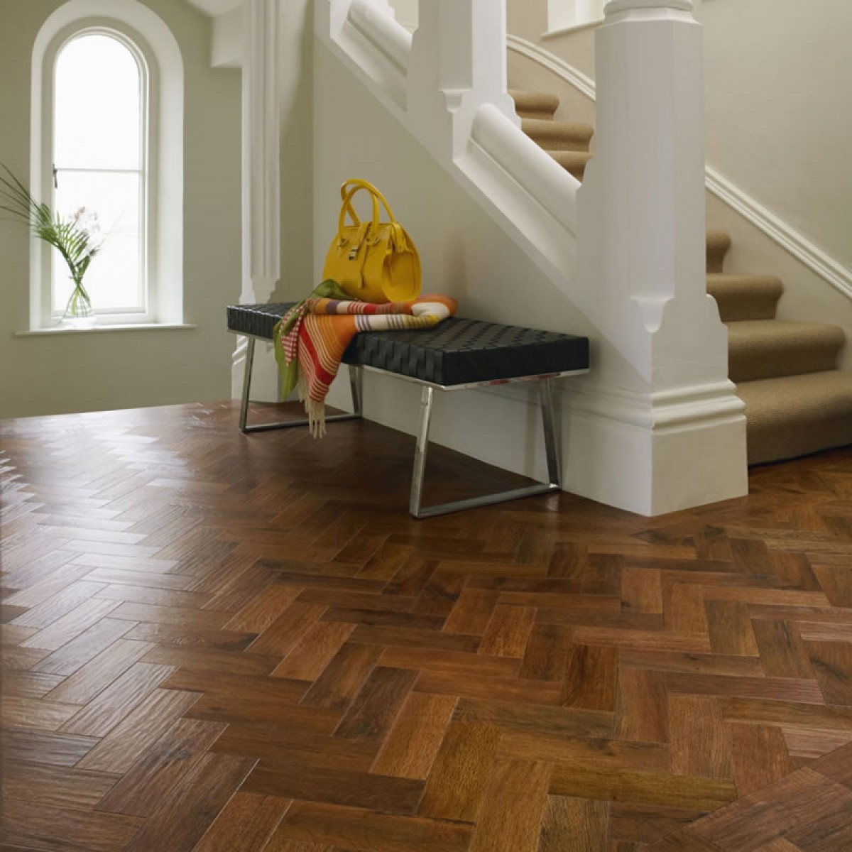 karndean art select ap02 auburn oak parquet vinyl flooring. Black Bedroom Furniture Sets. Home Design Ideas