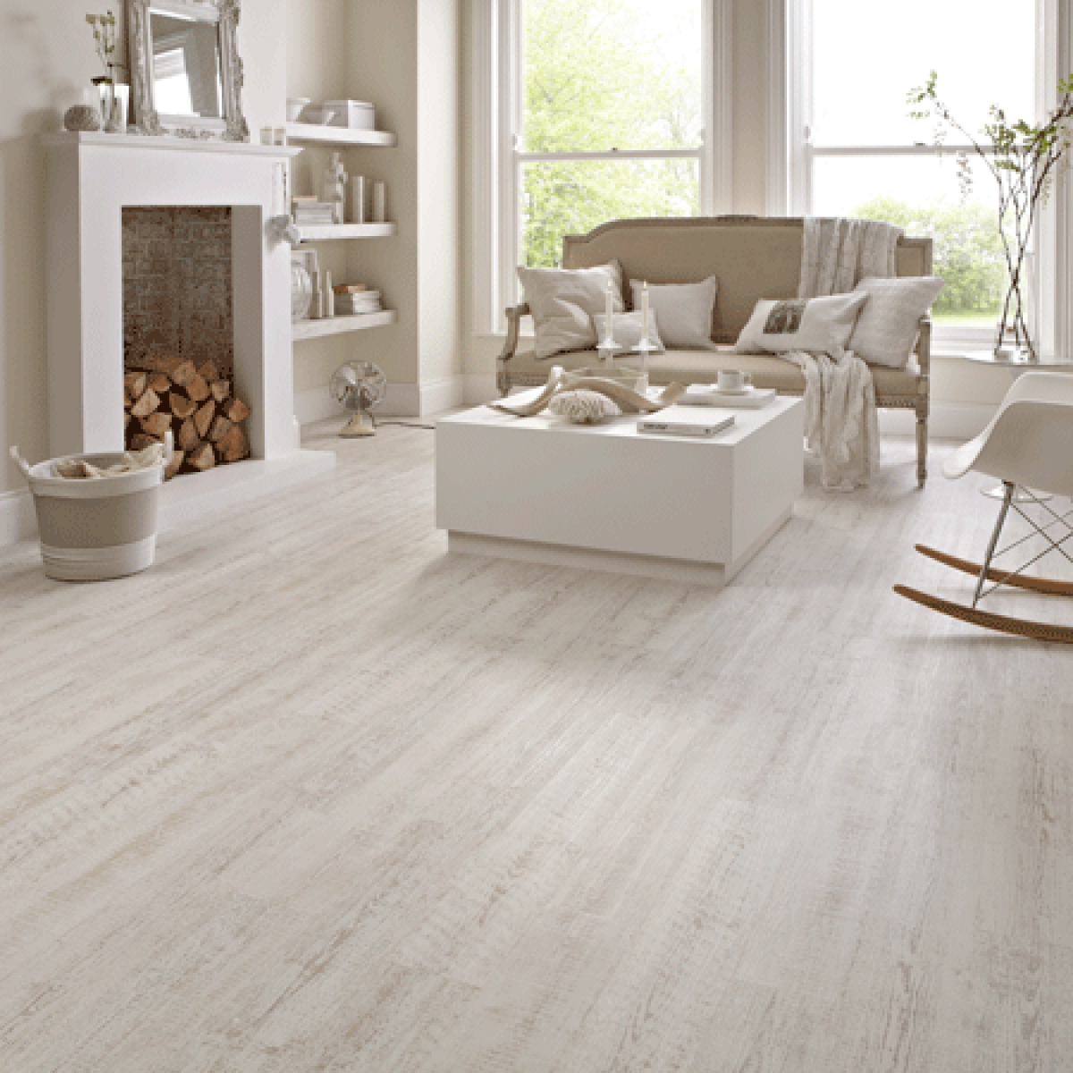 Karndean Knight Tile Kp105 White Painted Oak Vinyl